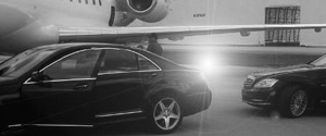 MB S-Class on the tarmac