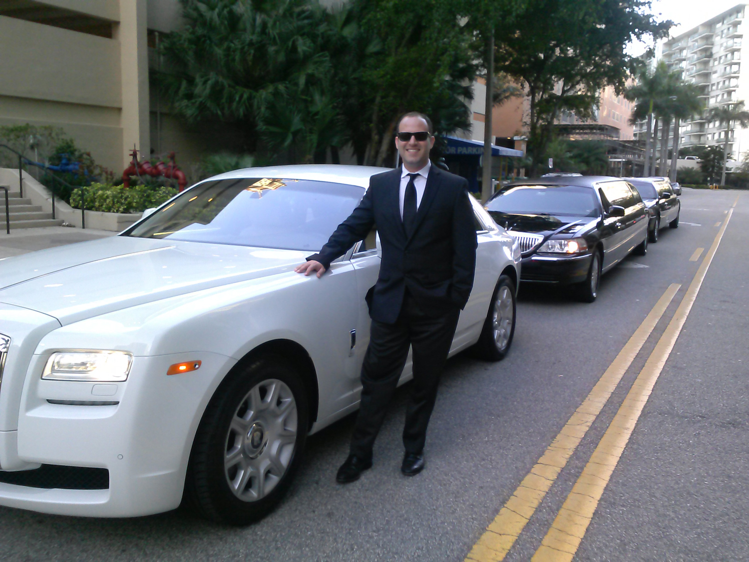 Taylored White Rolls Royce Limousine
